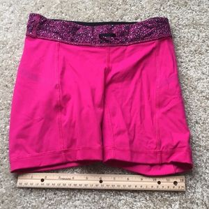 Pink athletic shorts
